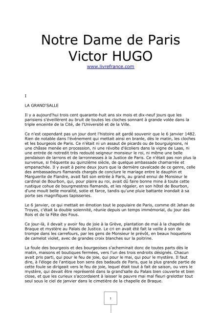 Dame Hugo De Victor Notre Paris HDYE2W9I
