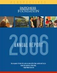 DCC 2006 ann report cvr.cdr - Dutchess Community College