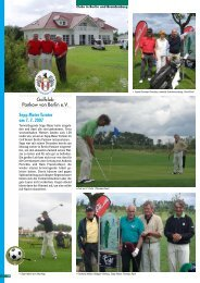 Sepp Maier Turnier am 7. 7. 2007 - Golf Resort Berlin Pankow