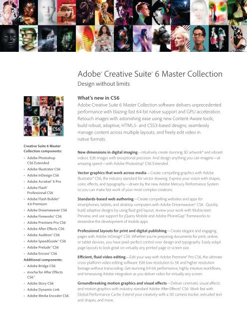 Adobe Cs6 Master Collection What S New Document Pdf