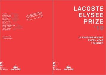 LACOSTE ELYSEE PRIZE '10 - Musée de l'Elysée