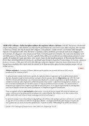 ADRIANO (Alfonso). Della disciplina militare del capitano Alfonso ...