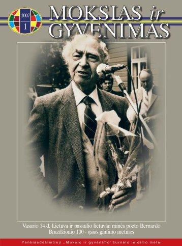 Vasario 14 d. Lietuva ir pasaulio lietuviai minės poeto Bernardo ...