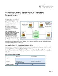 V-Modeler 2009.2 R2 for Visio 2010 System Requirements - Casewise