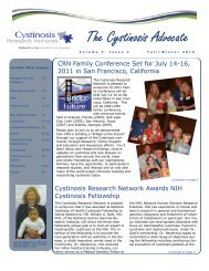 Fall/Winter - Cystinosis Research Network