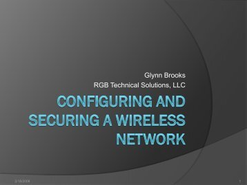 200406-Configuring and Securing a Wireless Network