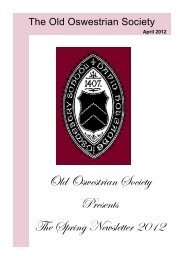 Newsletter - Oswestry School