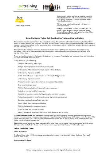 lean six sigma training amp certification programs quality