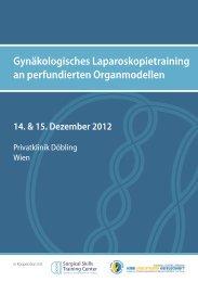 Gynäkologisches Laparoskopietraining an perfundierten ...