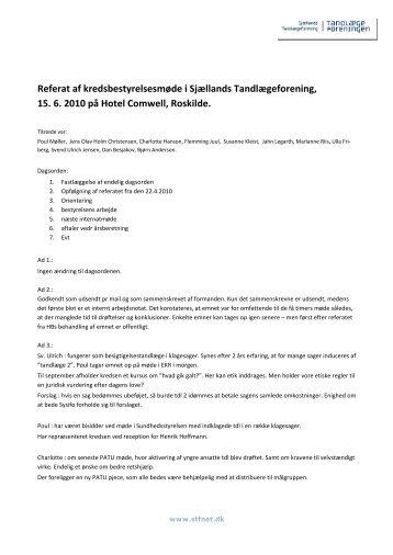 Referat af kredsbestyrelsesmøde i Sjællands ... - stfnet.dk