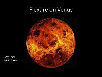 Flexure on Venus