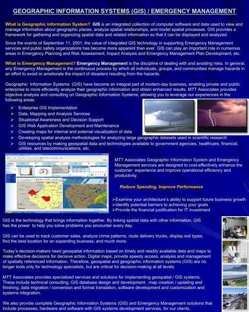 Gis Emergency Management Mtt Associates