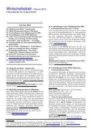 Wirtschaftsblatt Februar 12 - Wirtschaftsförderung Wesermarsch GmbH