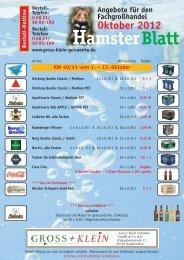 HamsterBlatt - GROSS + KLEIN Getränke-Logistik