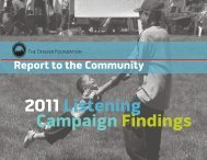 2011 Listening Campaign Findings - The Denver Foundation