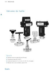 Válvulas de Fuelle: Serie B (MS-01-22;rev_9;es-ES) - Swagelok