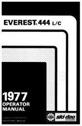 1977 Everest 444 LC - Vintage Snow