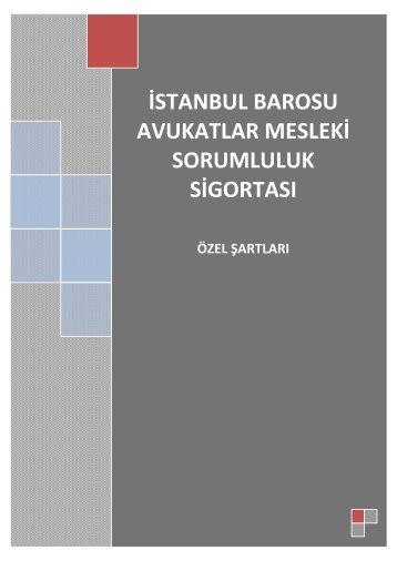 avukatlar mesleki sorumluluk sigortası - İstanbul Barosu