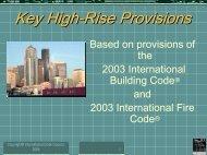 Key High-Rise Provisions - WOBO