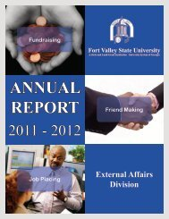 External Affairs Annual Report - Fort Valley State University