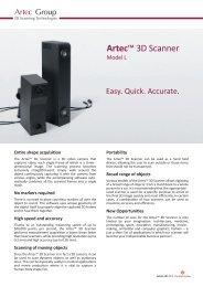 Artec 3D Scanner list face NEW