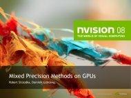 Mixed Precision Methods on Gpus