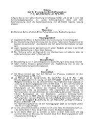 Satzung über die Erhebung einer Zweitwohnungssteuer in der ...