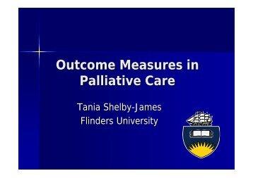 Outcome Measures in Palliative Care - Australian Health Services ...