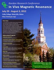 July 29 – August 3, 2012 - Gordon Research Conferences