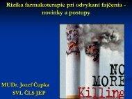 Rizika farmakoterapie pri odvykaní fajčenia - novinky a postupy