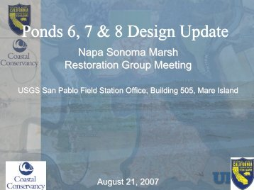 Ponds 6-8 Design Update - Napa/Sonoma Marsh Restoration Project