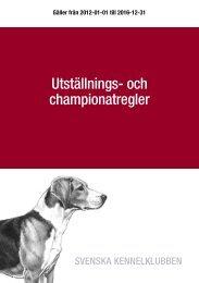 Utställnings- och championatregler - Svenska vorstehklubben