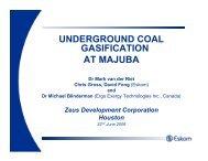 underground coal gasification at majuba - Zeus Development