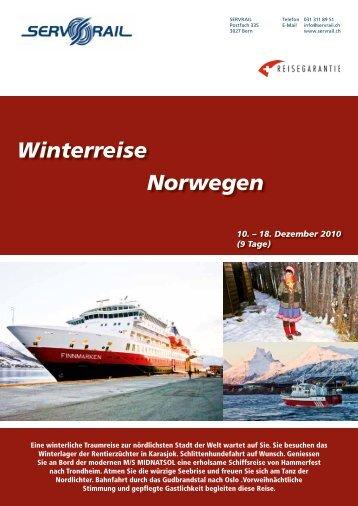 Winterreise Norwegen - SERVRail