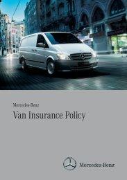 Van Insurance Policy - Mercedes-Benz UK