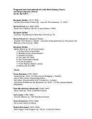 David Daniels & Martin Katz / recital programme - Oper Frankfurt