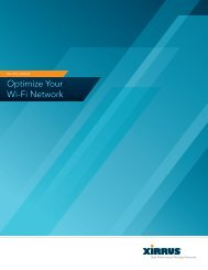 Optimize Your Wi-Fi Network - Xirrus