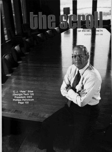 1985–86 Volume 109 No 1–5 - Phi Delta Theta Scroll Archive