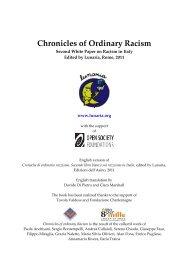 Chronicles of ordinary racism 2011 - Cronache di ordinario razzismo