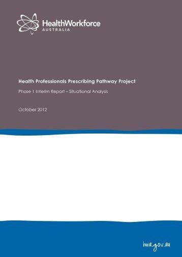 Phase One HPPP lnterim Report - Health Workforce Australia