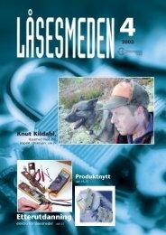 2003 - Foreningen Norske LÃ¥sesmeder