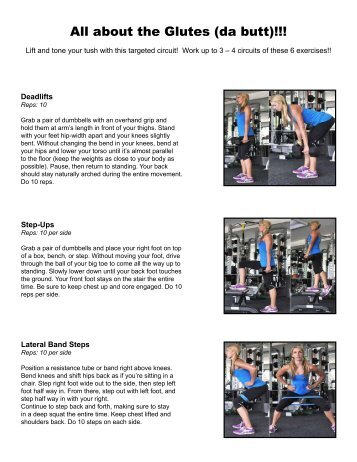 About the Glutes Workout!