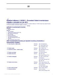 Opatření děkana č. 22/2011 - Provedení řádné inventarizace ...