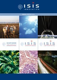 ANNUAL REPORT 2011 - Isis Innovation