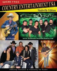 Publicizing Entertainers & Entertaining Our Readers - Country ...