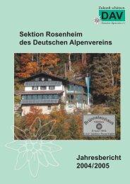 Jahresbericht 2004/2005 - Deutscher Alpenverein