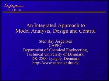 Integration of design and control - CAPEC