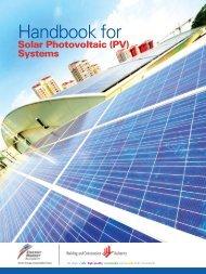 Handbook for Solar Photovoltaic (PV) Systems - Energy Market ...