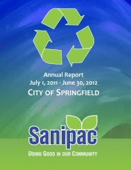 Sanipac Annual Report (July 1, 2011 - June 30 ... - City of Springfield