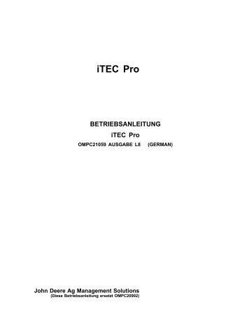 iTEC Pro - StellarSupport -  John Deere